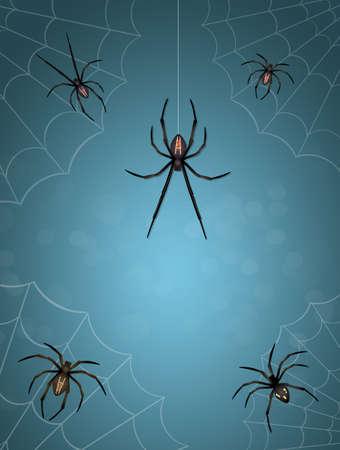 illustration of spiders Zdjęcie Seryjne
