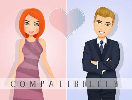 Compatibility between men and women Zdjęcie Seryjne
