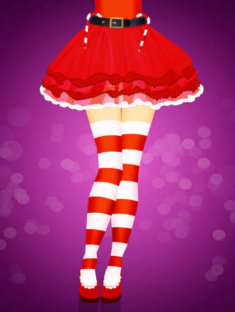 woman legs color red socks Christmas