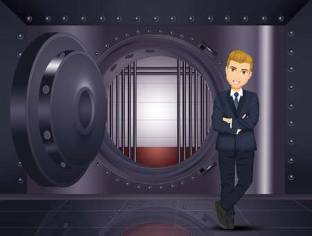 man in the bank vault