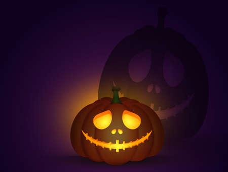 illustration of Halloween pumpkin Zdjęcie Seryjne
