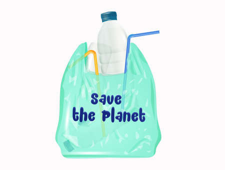 save the planet from plastic Stok Fotoğraf