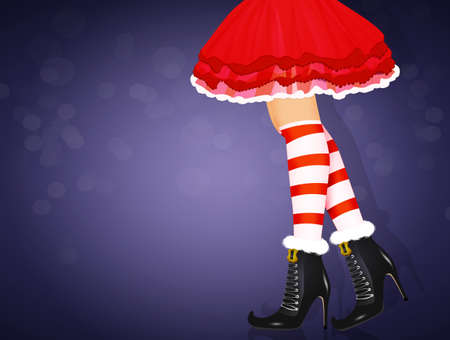 legs of Santa Claus girl close up Reklamní fotografie