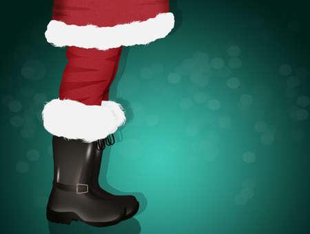 Santas legs in boots 版權商用圖片