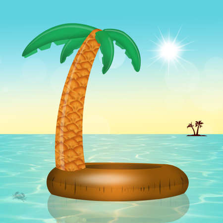 Inflatable palm