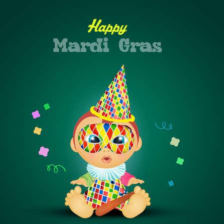 illustration of happy Mardi Gras