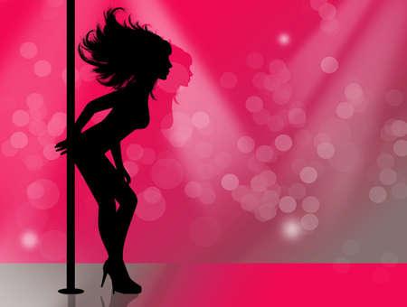 Lap Dancer silhouette Stock Photo