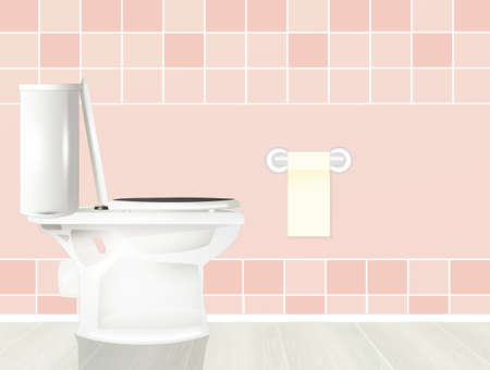 illustration of the toilet in the bathroom Stockfoto
