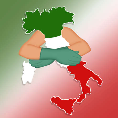Hug to Italy at the time of the coronavirus