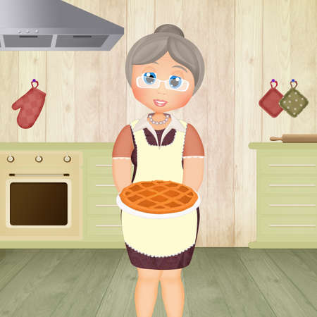 illustration of grandmother's cake