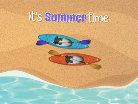 illustration of summer time card