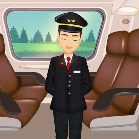 illustration of train controller