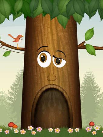 illustration of the talking tree
