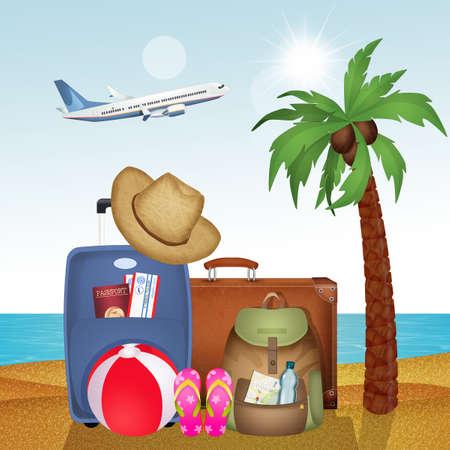 traveler travel objects illustration Zdjęcie Seryjne
