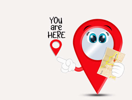you are here funny icon