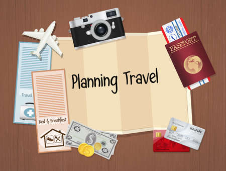 illustration of planning travel