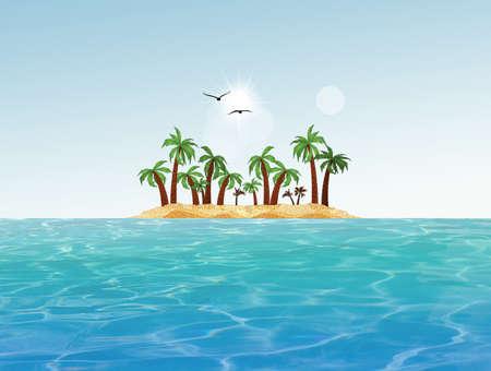 illustration of the desert island