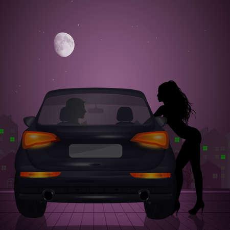 illustration of prostitution problem