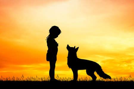 the girl and the wolf Zdjęcie Seryjne