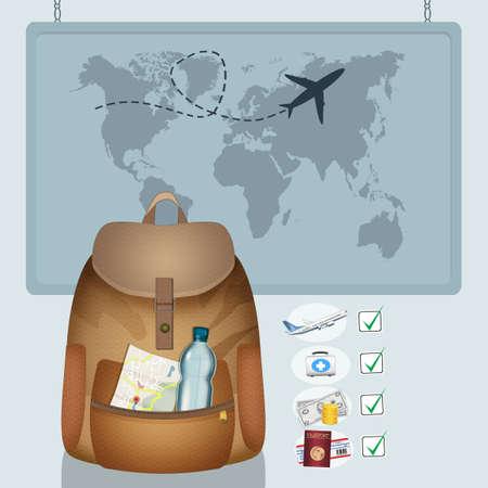 illustration of plan a trip Zdjęcie Seryjne