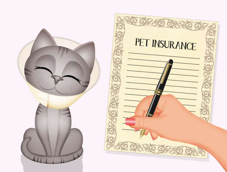 funny illustration of pet insurance