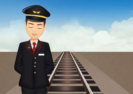 illustration of train controller