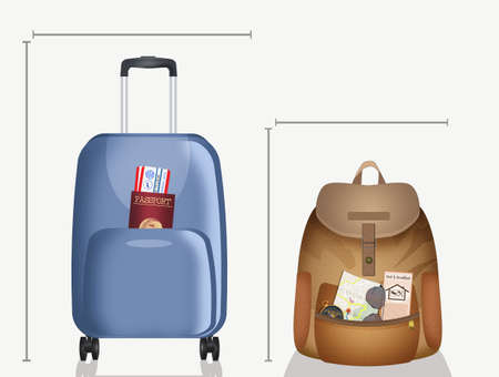 sizes for boarding suitcase and hand luggage