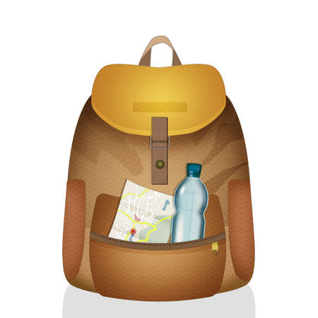 illustration of travel backpack