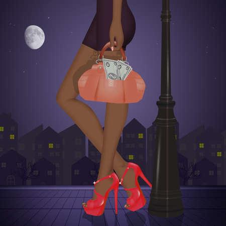 foreign prostitute on the street Zdjęcie Seryjne