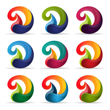 Set van logo pictogram eerste letter D