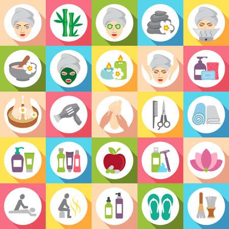 Set of beauty spa icons