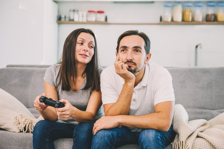 The wife plays the game
