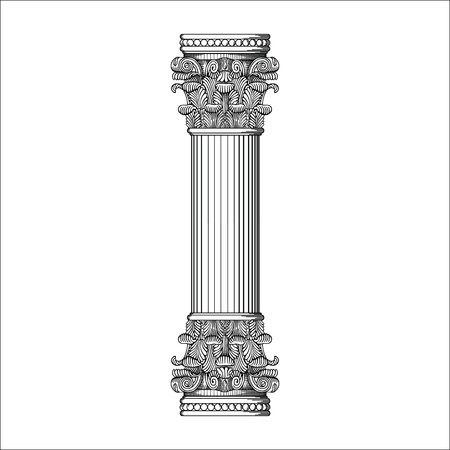 ANTIQUE FRAME PILLAR ORNAMENT VECTOR