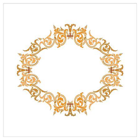 Ornate Vintage Ornament Frame Vector Ilustration