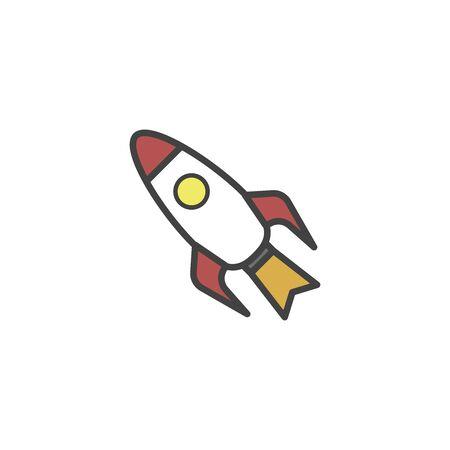 Rocket Business Icon Vector
