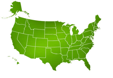 united states map, America isolated