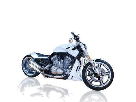 Classic motorcycle white, the rock