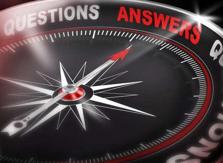 Answers compass Assurance Concept 3d Banque d'images