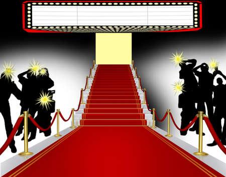 Red carpet, 3D illustration