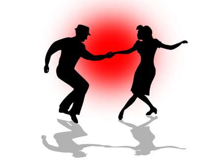 Swing Dance Couple Stock fotó