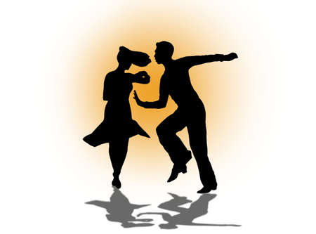 Ballroom and Latin Dance couple illustration Stock fotó
