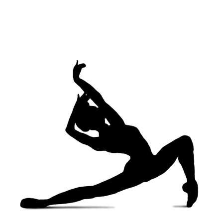 Ballet dancer in silhouette dancing
