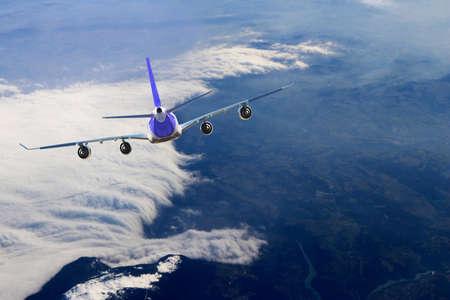 Plane flight, Sky