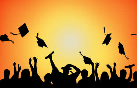 Graduation Celebration university students background