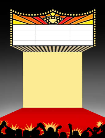 Theater Marquee Scene Sign