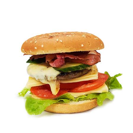 Hamburger, fast food, isolated cheeseburger Standard-Bild