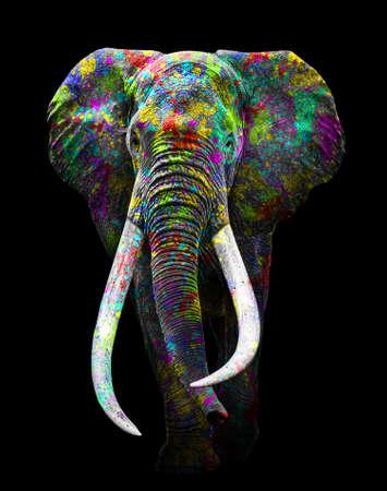 Elephant art full colors, animal