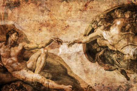 Rome Italy March 8 creation of Adam by Michelangelo