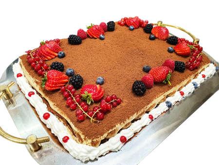 Tiramisu dessert, cake fuit, Italian recipe