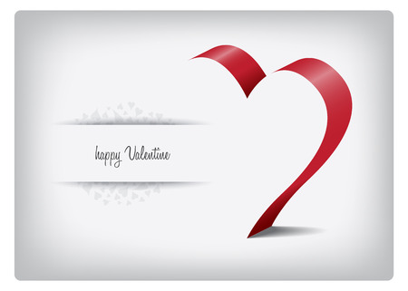 Valentine greeting card with heart and text Vector